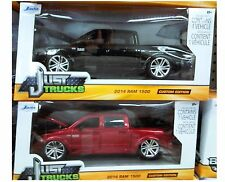 Pack of 2 Dodge Ram 1500 Pickup 2014 Truck Diecast 1:24 Jada Toys 8in Black Wine
