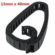 15 x 40 mm openable Cable Drag Chain Wire Length 1000mm Carrier Plastic Towline