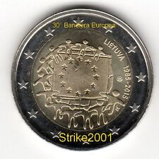 NEW !!! 2 EURO COMMEMORATIVO LITUANIA 2015 30° Bandiera Europea ! disponibile !