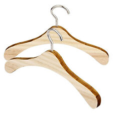 Hot 2pcs Wooden Clothes Hanging Hanger for 1/4 Cute BJD Dolls Clothes Nice New