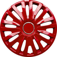 "COSMOS WT5 Universal 15"" Inch Wheel Trims Hup Cap 4 piece set in RED"