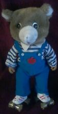 """Vintage 1985 Toy Roller Skating Bear 14"""" Battery Operated Sound  As Is (H3)"""