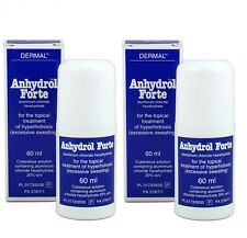 2 X Anhydrol Forte Roll-On Antiperspirant ExcessiveSweating (Driclor Equv.) 60ml