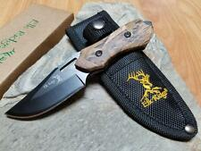 """Elk Ridge Fixed Knife 6"""" Overall Camo Wood Stainless Hunting Outdoor 562bc"""