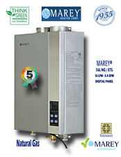 Marey Natural Gas 5.4 GPM GA16NGETL Tankless Water Heater *Whole House*