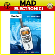 UNIDEN MHS155UV HANDHELD BOAT MARINE/LAND Dual Band VHF/UHF CB 2-way Radio