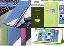 GENUINE FLOVEME Case PU Leather Flip Cover iphone 5 5S SE Registred NEW Brand