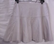 MY TRIBE SKIRT SKATER LEATHER BEIGE SOFT SUPPLE SHEEN SZ L NWT