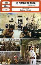 Movie Card. Fiche Cinéma. Un château en enfer/Castle keep (USA) S. Pollack 1969