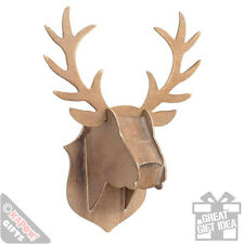 Wooden Stag Head Wall Decor Xmas Wall Hanging Plaque Novelty Deer Animal