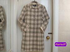 Auth vintage burberry nova check beige couleur laine manteau enfants taille 12 ans