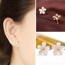 New Fashion Lovely Cute Cat's Eye Stone Korean Flower Ear Stud Earrings