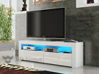 Modern TV Unit Cabinet Stand White Matt and White High Gloss FREE LED RGB!