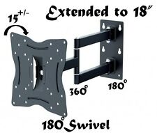 "New Articulating Swivel ARM TV Wall Mount for Samsung LCD LED Screens 13"" to 42"""