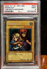 Gemini Elf Secret Rare Holo 2003 Yu-Gi-Oh! Card LON-000 PSA 9 MINT