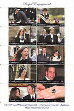 Penrhyn Cook Isl 2011 MNH Royal Engagement Prince William Kate 10v M/S Stamps