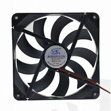 14cm 140mm x 25mm 2Pin DC 12V Brushless Computer PC Case Cooler Cooling Fan new