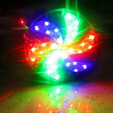 12V Circular Fan Colourful Motorcycle Decor Strobe Lamps Light LED Lighting