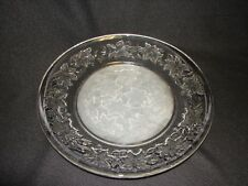 New Princess House Crystal Glass Fantasia 10 Inch Dinner Plate  ~ 10 Inch plate