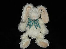 JELLYCAT BUNNY RABBIT SOFT TOY CREAM WHITE COMFORTER DOUDOU GREEN NECK RIBBON