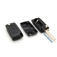 Coque Télécommande plip clé citroen berlingo jumpy 2 bouton CE0536 sans rainure