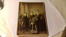 cabinet card,3 children with toy horse,c1890's,by farlie of woolwich