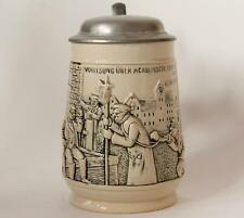 Antique German Beer Stein Humorous Student Freedom by Marzi/Remy #5885 c.1900