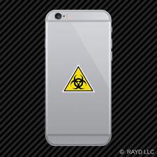 Biohazard Warning Cell Phone Sticker Mobile Die Cut danger