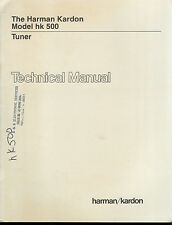 Rare Factory Harman Kardon HK 500 AM/FM Stereo Tuner Technical/Service Manual