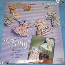 "Daisy Kingdom ""KITTY ANGEL GARLAND"" Stitch 'N Stuff Fabric Christmas Doll Kit"
