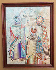 Amazing oil Painting By Visionary Artist Apache Elder Judy Tallwing