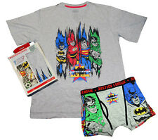 JUSTICE LEAGUE America T-SHIRT & Boxer Brief SUPERMAN-BATMAN-FLASH Large 36-38