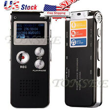 Voice Activated 8GB Rechargeable Digital Audio Recorder Dictaphone Backlight USB