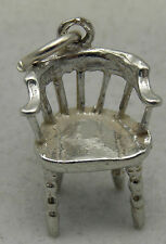 3D STERLING SILVER OLD CHAIR CHARM
