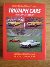 TRIUMPH FROM TRI CAR TO ACCLAIM COMPLETE STORY CAR BOOK jm
