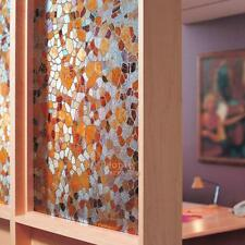 3D Static Cling Film Stained Glass Paper Frosted Decorative Home Window Privacy