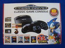 Sega Mega Drive Classic Mini Game Console NEW +80 Games + 2 Wireless Controllers