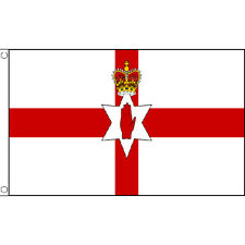Northern Ireland Large Flag 8ft x 5ft Red Hand Of Ulster Banner With 2 Eyelets