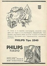 Y1140 Radio PHILIPS tipo 2540 - Illustrazione - Pubblicità 1930 - Advertising