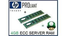 4GB (2x2GB) de RAM upgrade de memoria ECC para el servidor HP Proliant ML110 G5