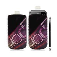 Housse coque étui pochette pour HTC Radar avec motif HF07 + Stylet luxe