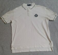 Ralph Lauren Men's Polo rugby embroidered shirt size L white