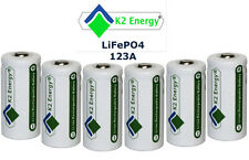 8x K2 Energy K2LFP123A Photo Lithium rechargeable CR123A CR123 camera battery