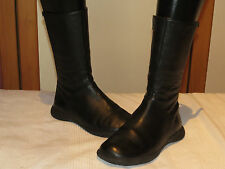 CAMPER SPIRAL SPANISH DESIGNER BLACK LEATHER MID-CALF BOOTS UK 3 EUR 36 RRP £145