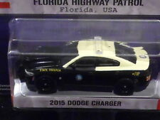 GREENLIGHT 2015 DODGE CHARGER {FHP} IN BLACK/YELLOW 1/64 SCALE DIECAST