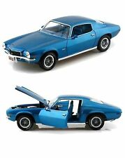 1:18 AutoWorld/ERTL 1971 Chevy Camaro ss350 Blue