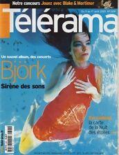 telerama n°2691 bjork michel royer francois dilasser almodovar 2001