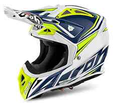 CASCO MOTO CROSS ENDURO AIROH AVIATOR 2.2 READY BLU GIALLO HUSQVARNA 2017 TG L