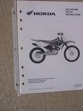 2003 Honda Motorcycle Scooter XR100R Set Up Instruction Manual Wiring Diagram L