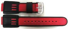 16MM RED BLACK NYLON WATCH BAND STRAP FITS CASIO GSHOCK DW5600E